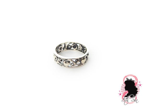 Sterling Silver Heart Band Ring in Gift Box
